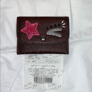 Authentic Coach Leather Card Holder Case